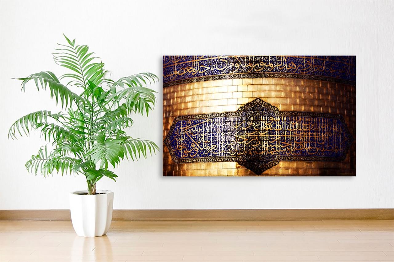 Nahaufnahme von der Minarette Imam Ridha Islamische Leinwandbilder Fotoleinwand