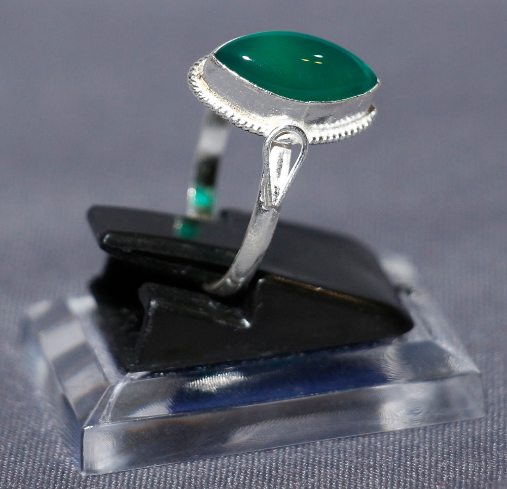 Aqiq Silberring für Frauen - Khorasani Grün