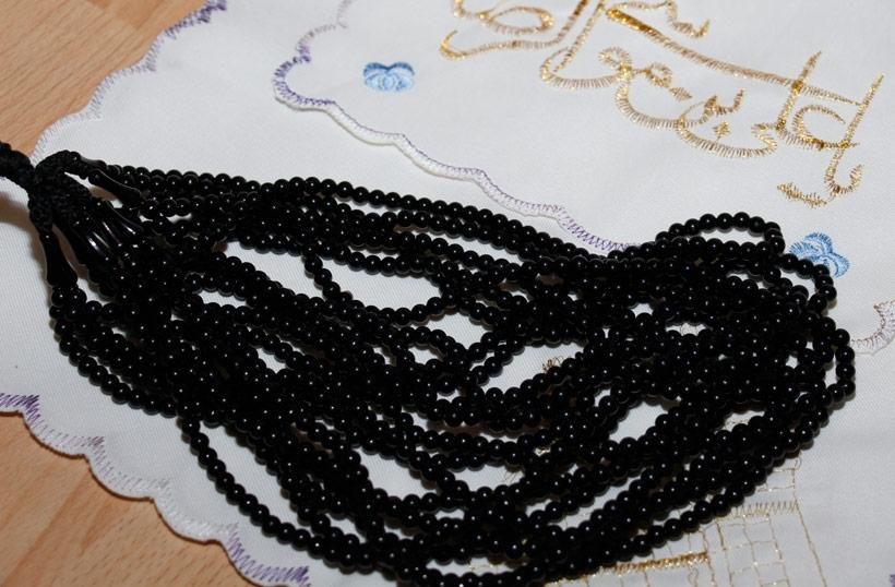 Gebetsketten Tasbih - schwarz 99 Steine