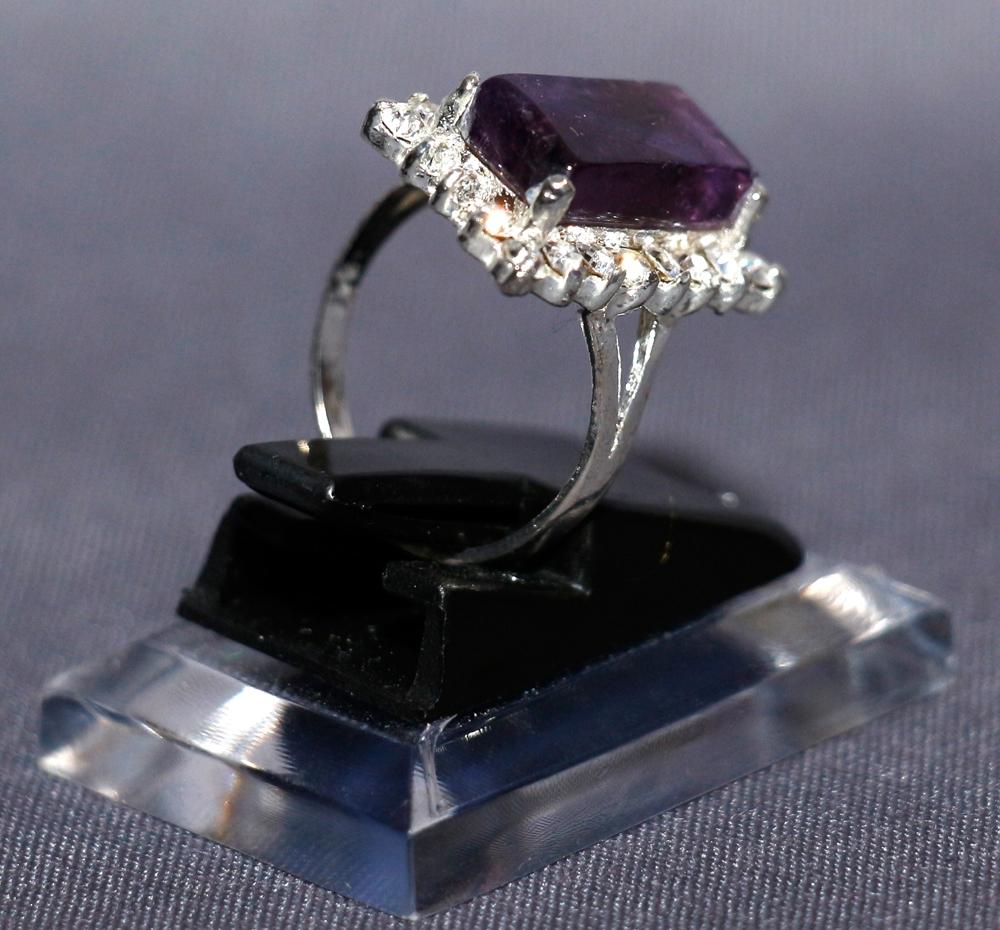 Lila Yaqoot Rubin Silberring für Frauen