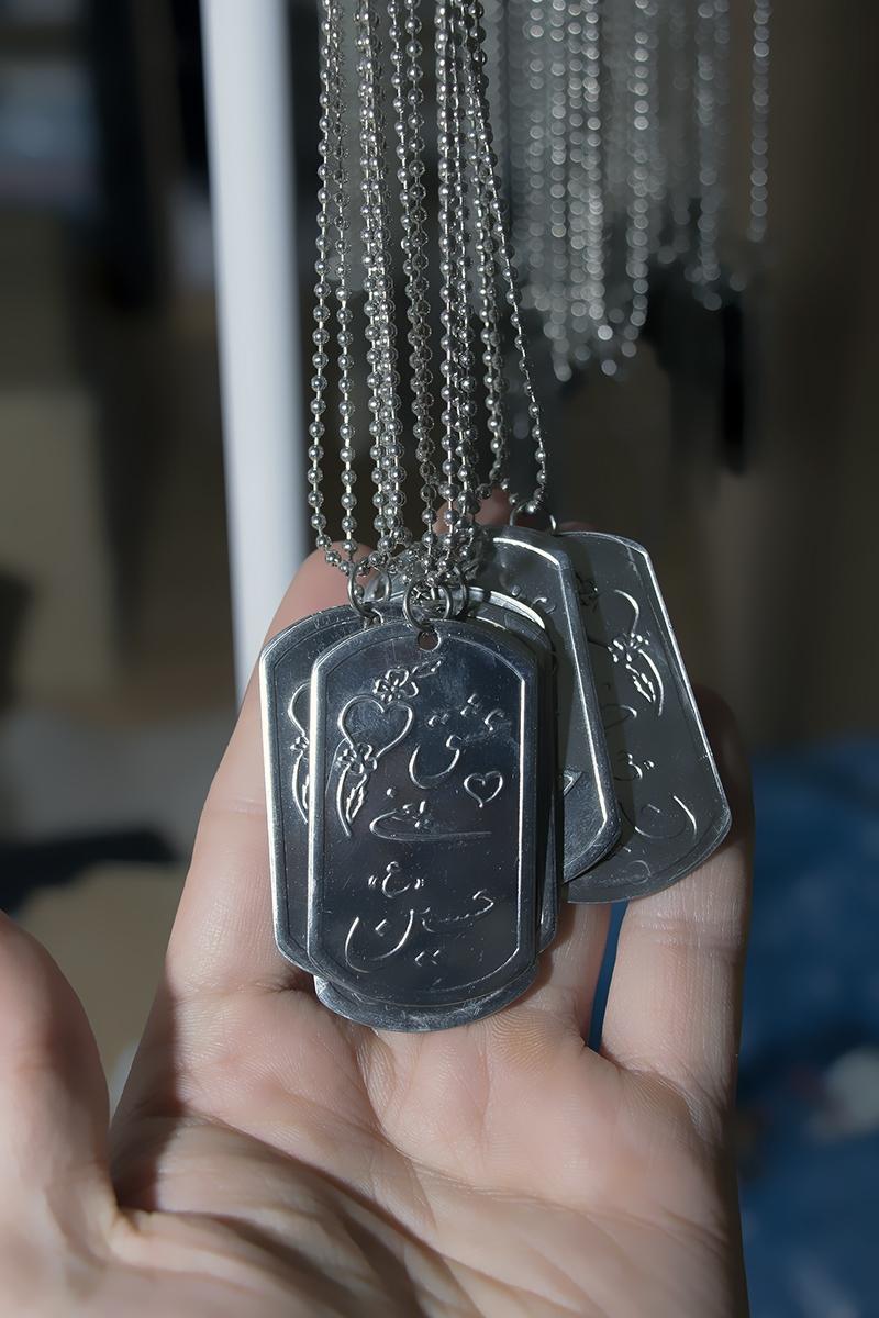 Edelstahl Halskette beschriftet mit Die Liebe zu Imam Hussein