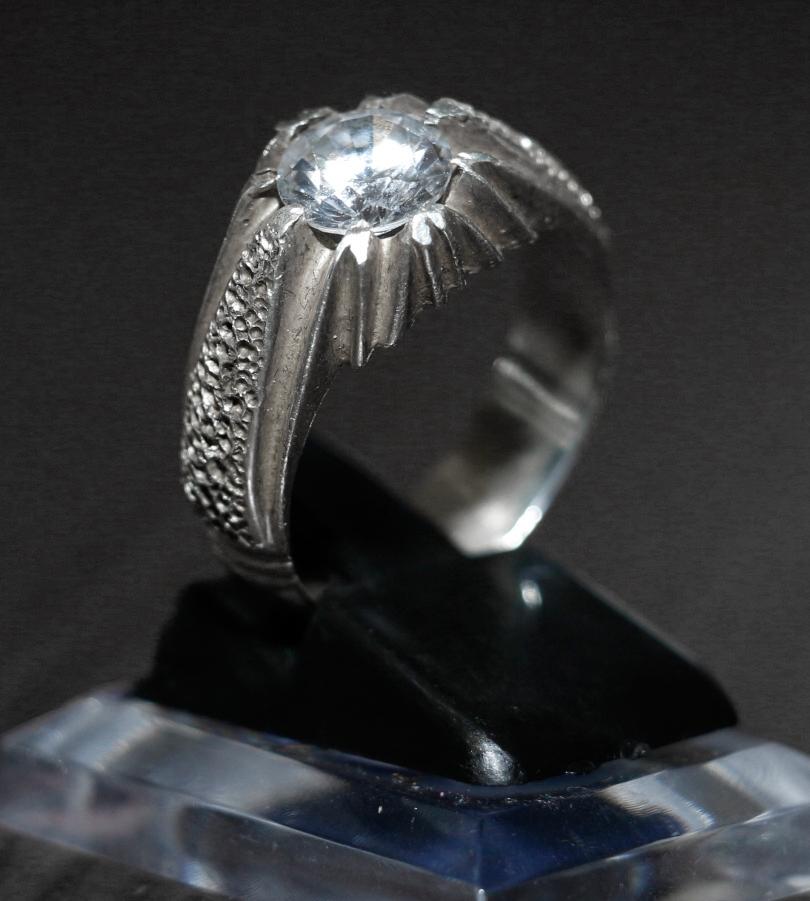 Weißtopas Weiß Topaz farblose brillante Edelstein in Silberfassung