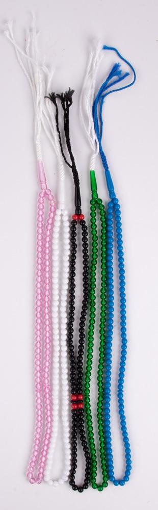 Gebetskette Tesbih - verschiedene Farben nach Lagerbestand 99 Steine