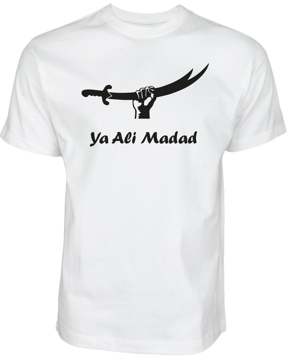 Ya Ali Madad Zulfiqar T-Shirt Weiß