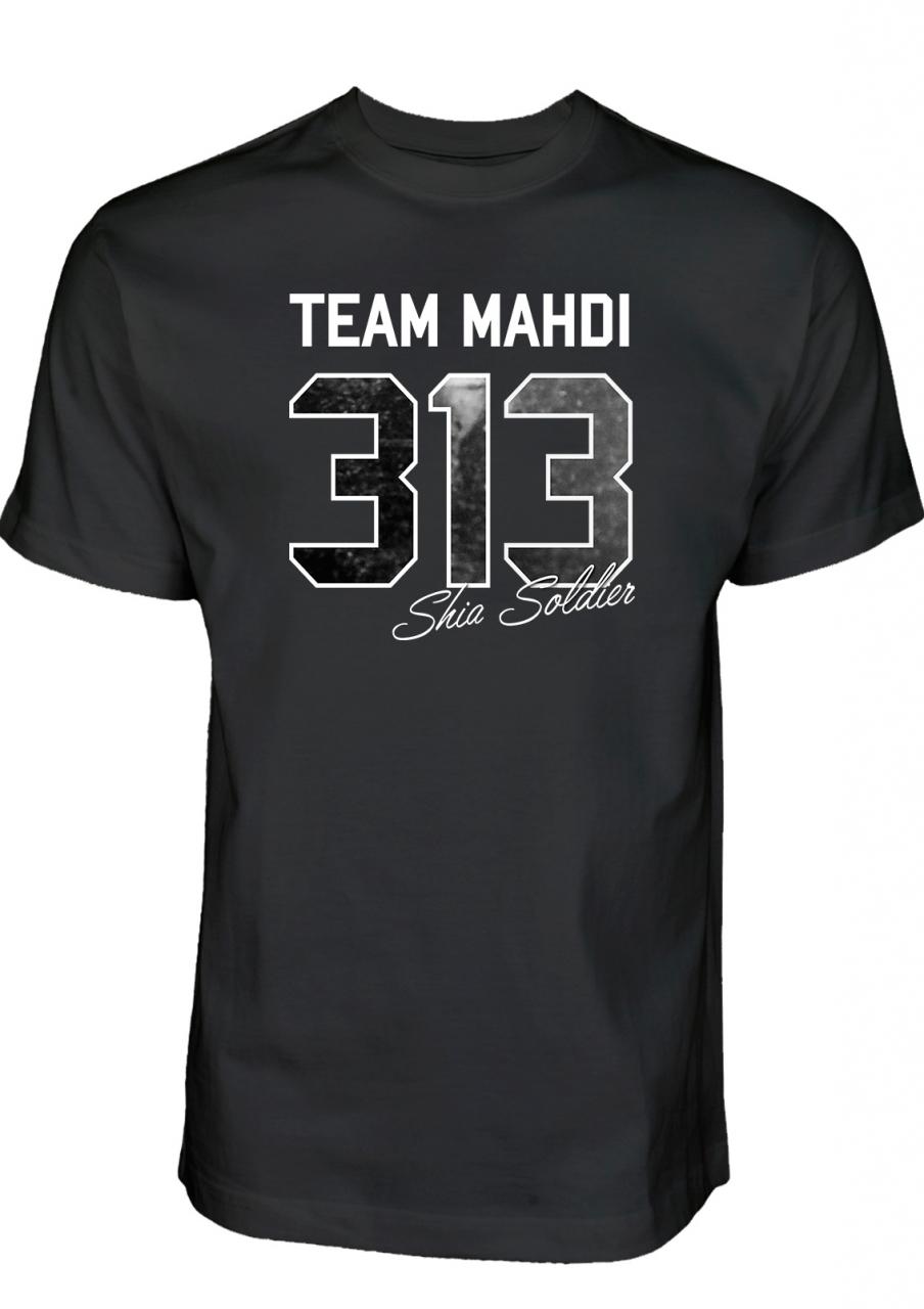 Team Mahdi 313 Shia Soldier T-Shirt Islamische Kleidung, Ashura T-Shirt, Muharram Clothing, Imam Hussein Shirt, Shia Shirt, Schia Kleidung, Muharram Ashura T-Shirt Schia-Schop