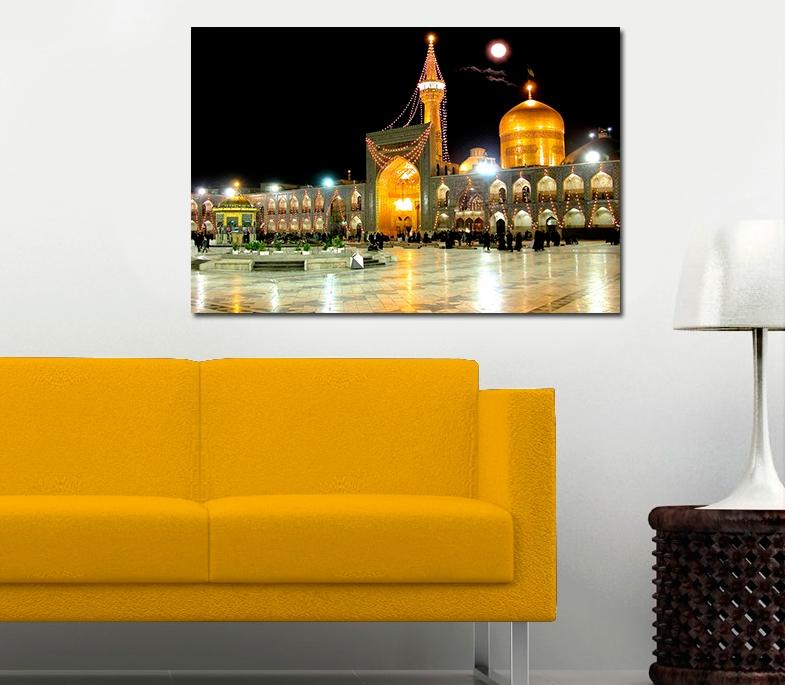 Imam Ridha Schrein von Außen bei Nacht Islamische Leinwandbilder Fotoleinwand