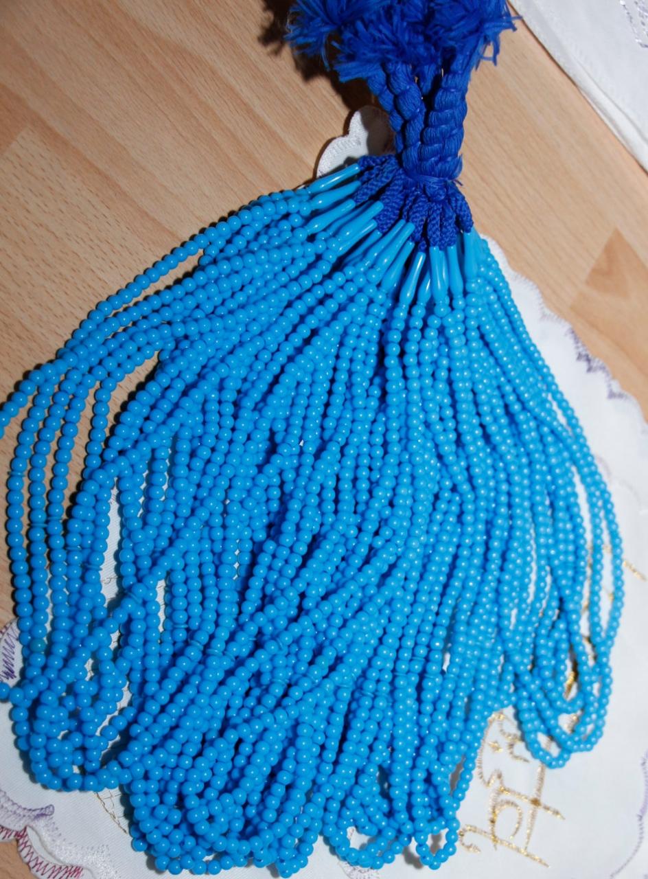 Gebetsketten Tasbih - Himmelblau 99 Steine