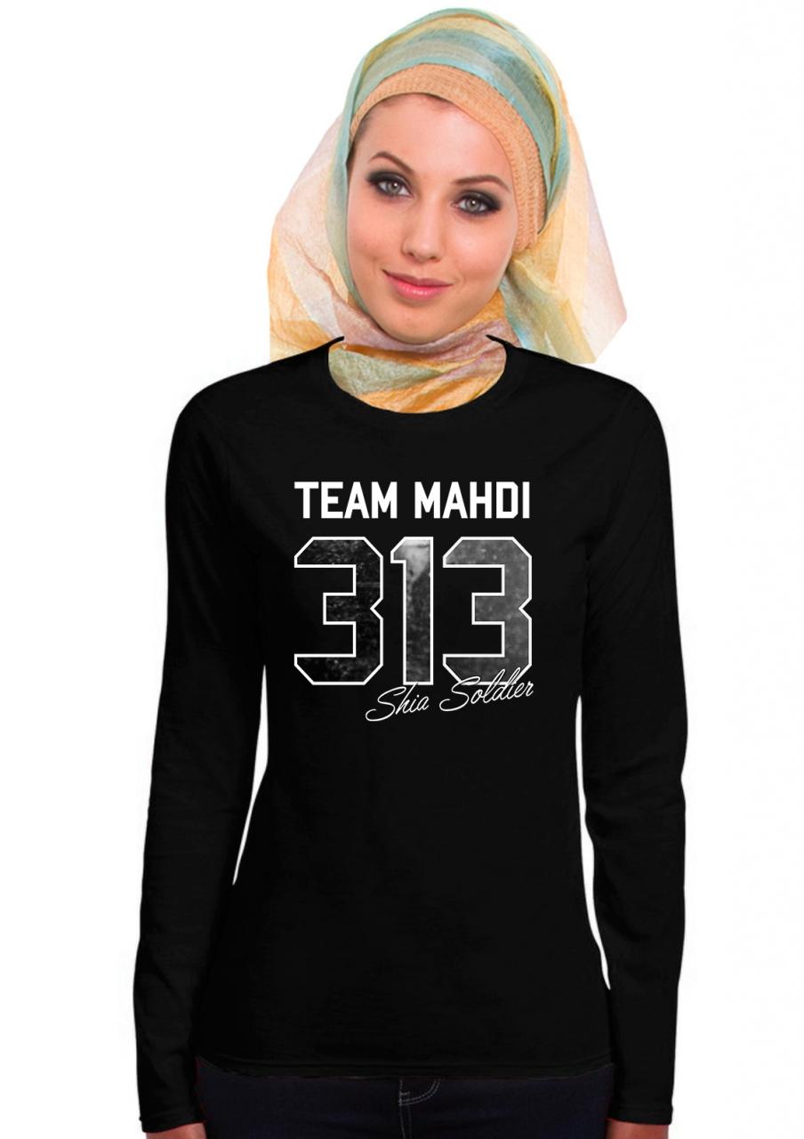 Shia Soldier 313 Team Mahdi Muharram Ashura Damen Langarm T-Shirt