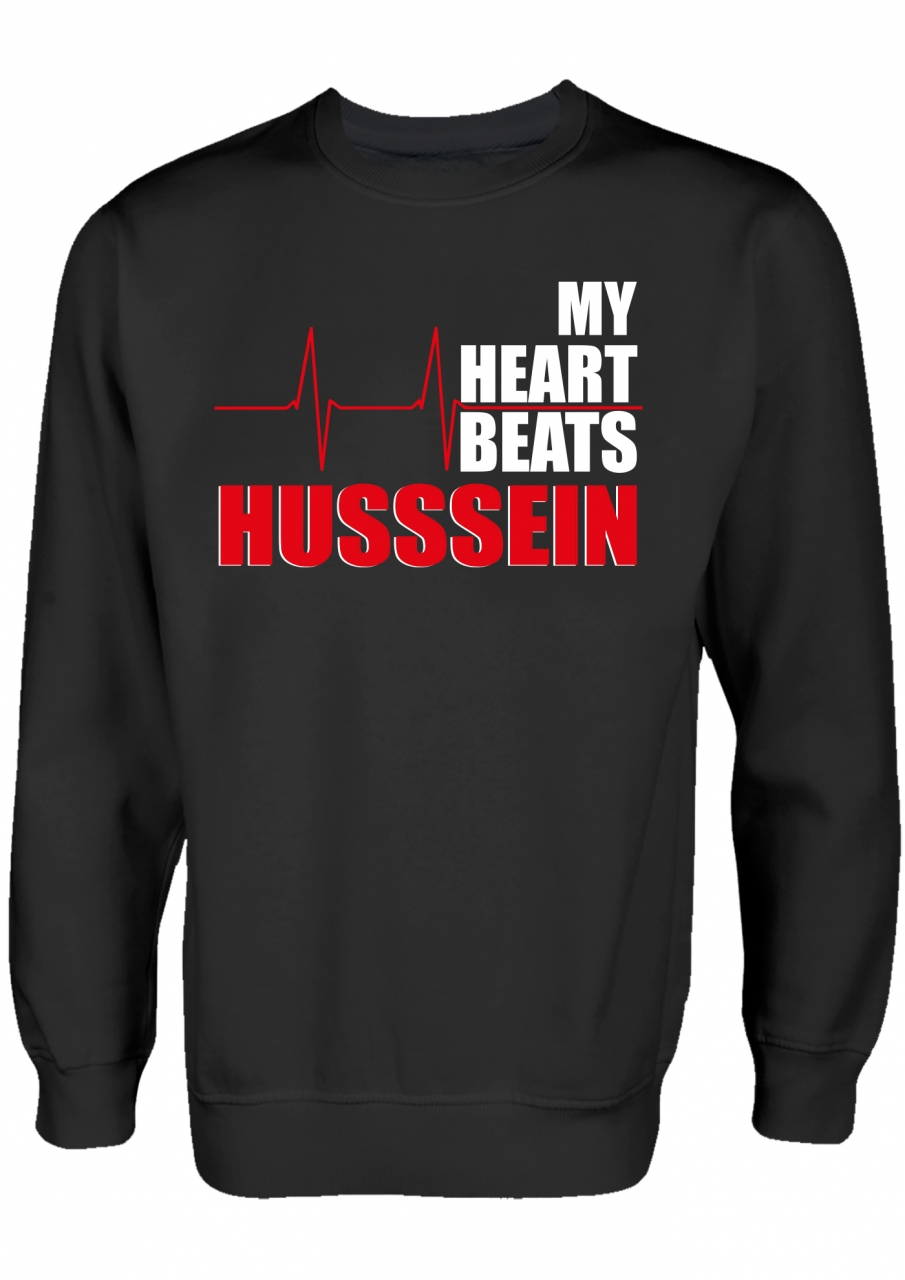 My Heart beats Hussein Shia Ashura Clothing Islamische Kleidung Pullover