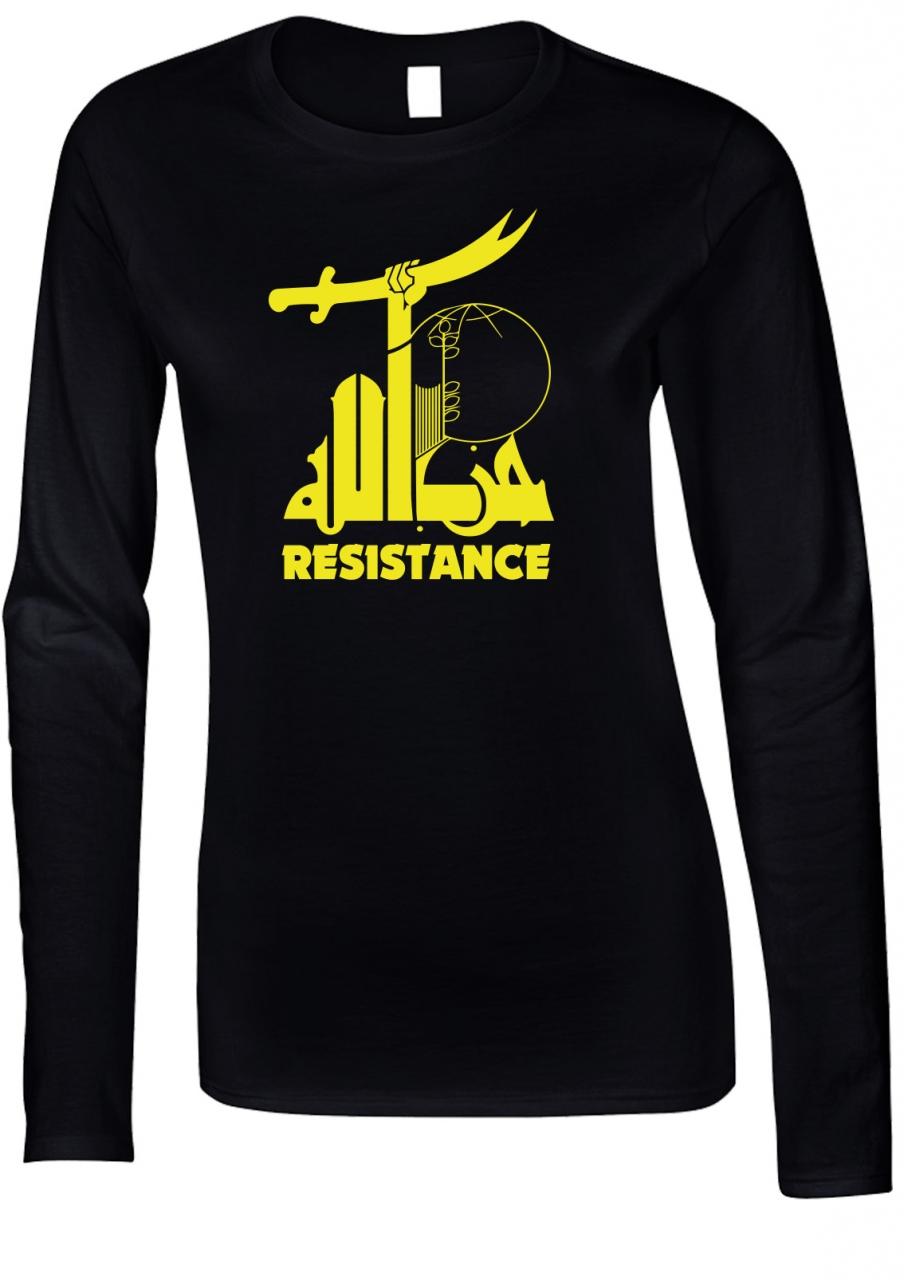 Widerstand gegen den Terror Resistance Damen Langarm T-Shirt Schwarz