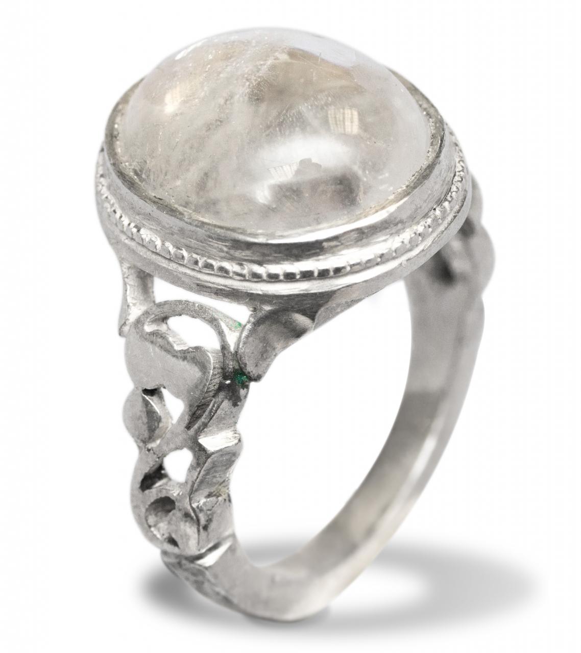 Durr Alnajaf, runder Stein, Silberfassung Größe 63