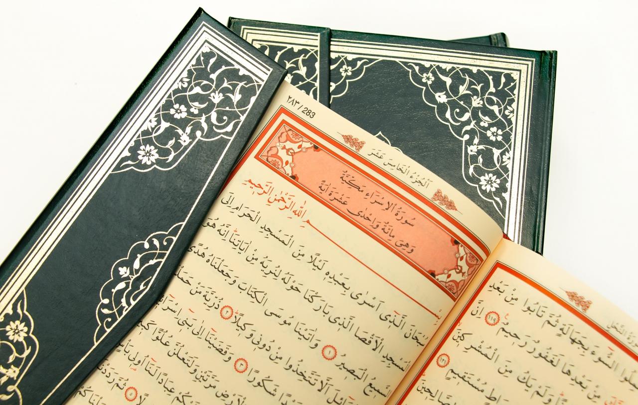 Kompletter Koran als Hardcover in Dunkel-Grün