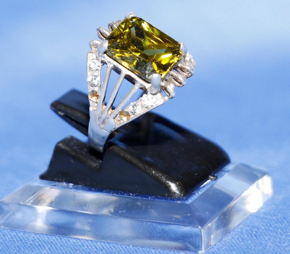 Jade - Zabarjad Silberring - Damen Ring