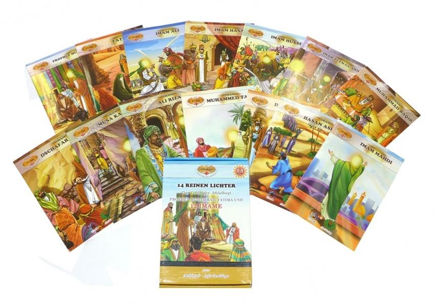 Kindergeschichten über die 14 Reinen der Ahlulbait komplett in Farbe und auf Deutsch