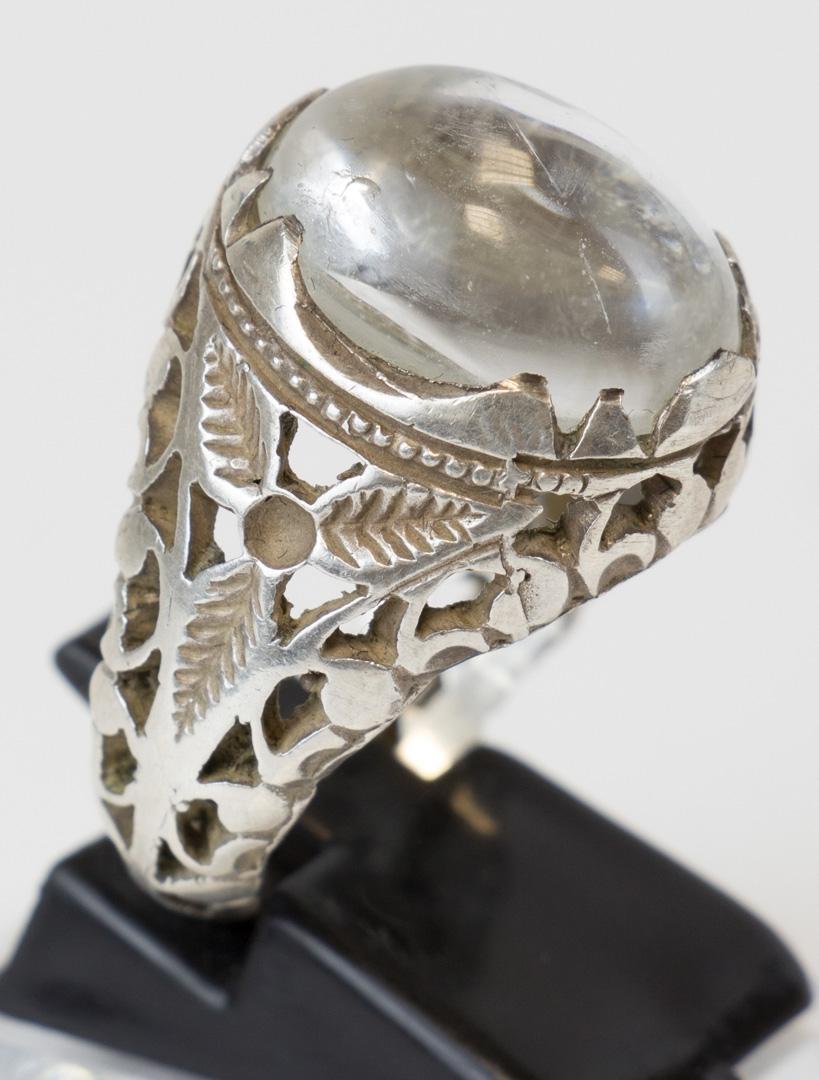 Durr Alnajaf sehr reiner Stein Silberfassung Handarbeit Größe 62