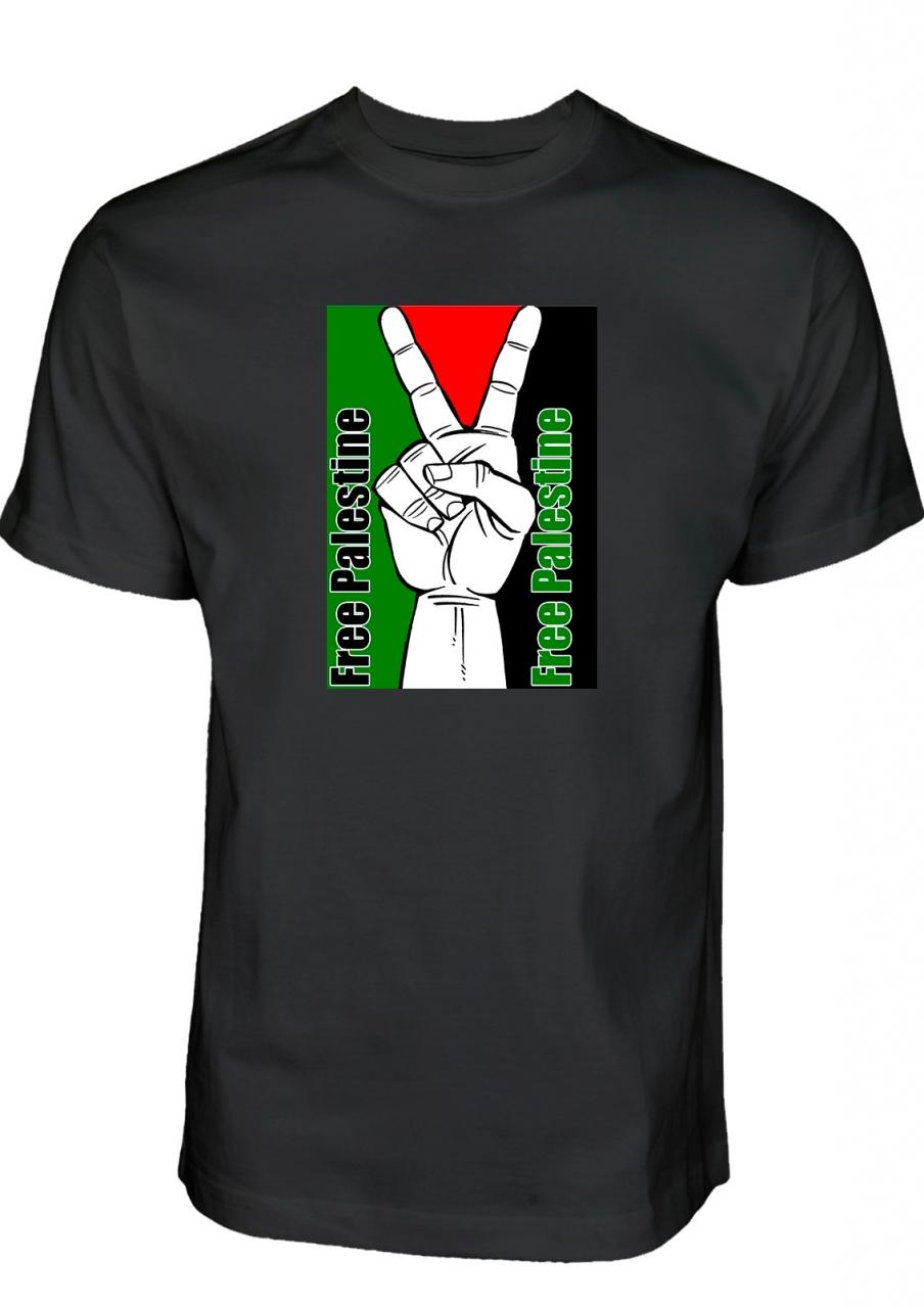 Free Palestine PLO GAZA PEACE - T-Shirt