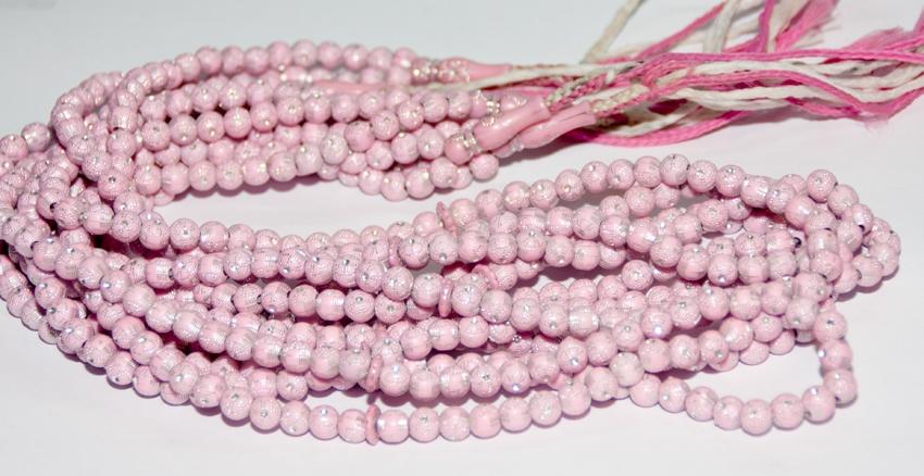 Damen Gebetskette in Pink mit Muster 99 Steine