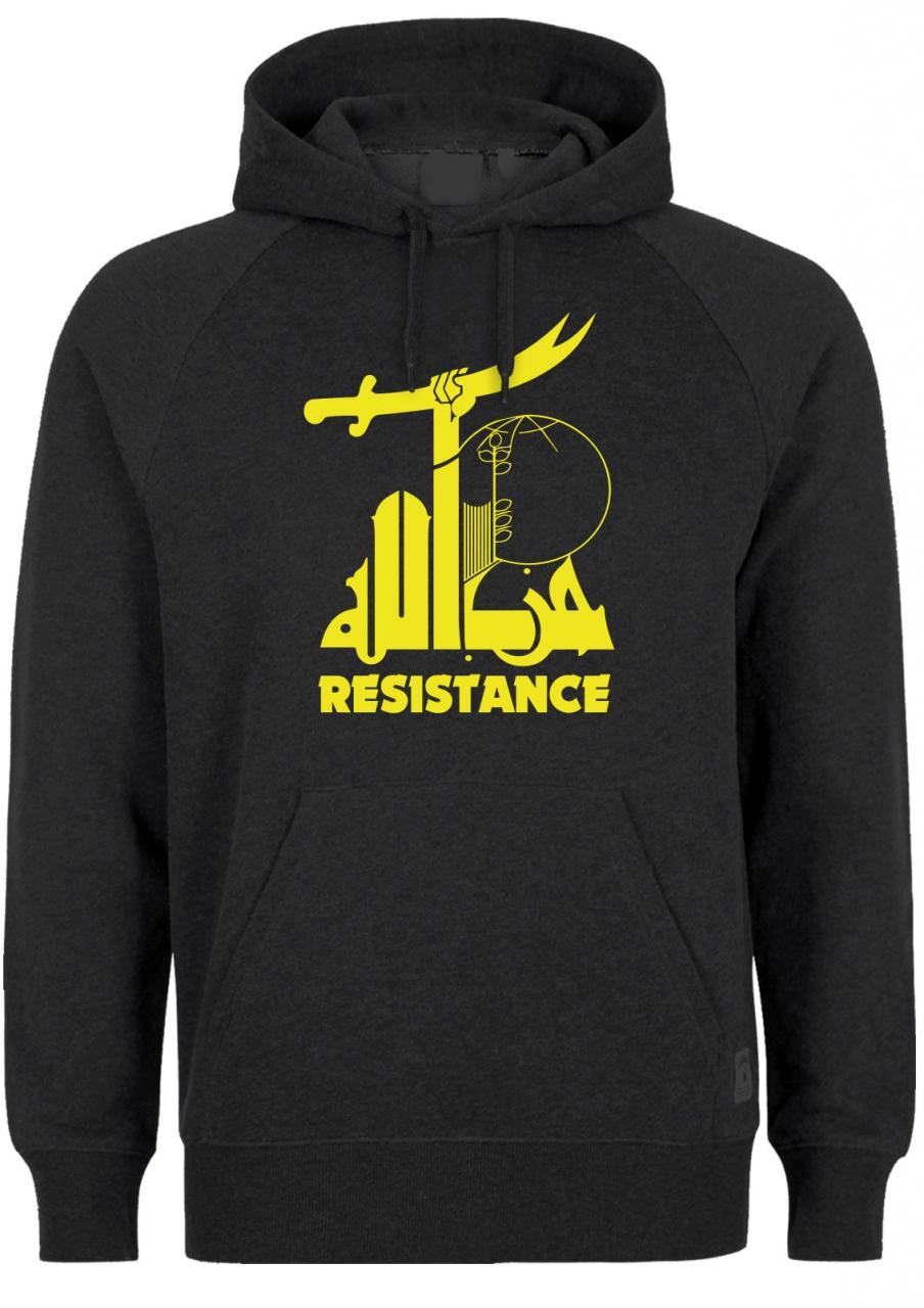 Widerstand gegen den Terror Resistance Herren Hoodie Schwarz
