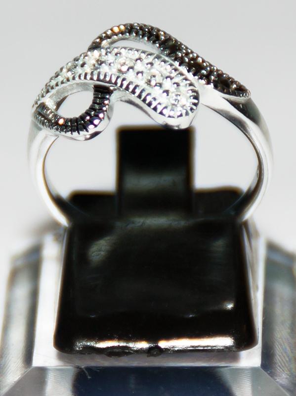 Frauenring - Silber mit Steinchen 3