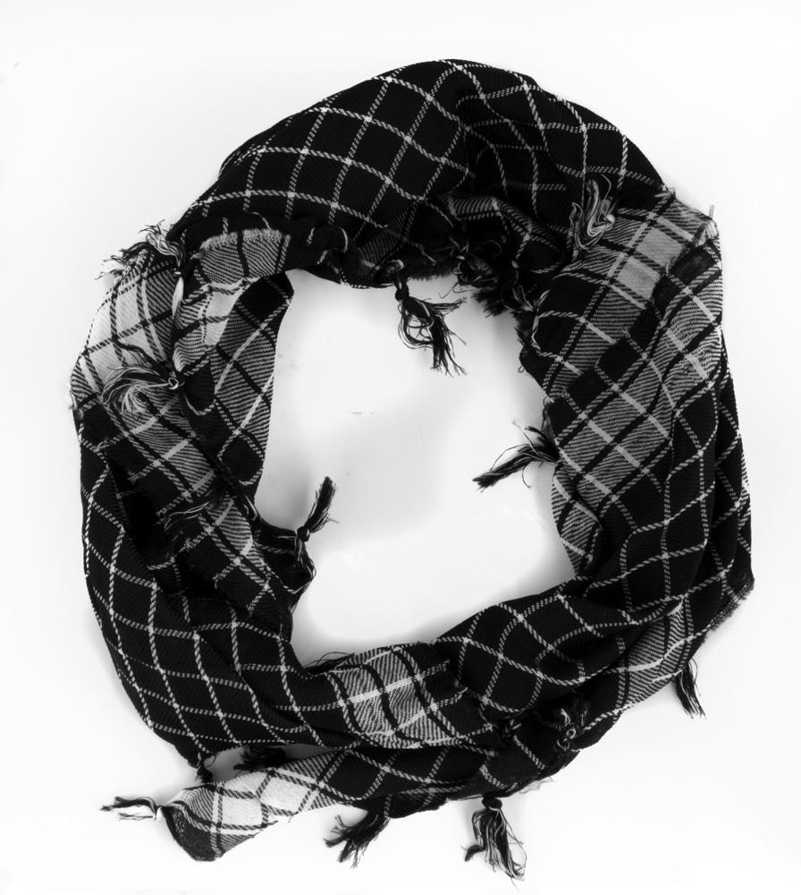 Schwarzes Muharram Schal aus Baumwolle