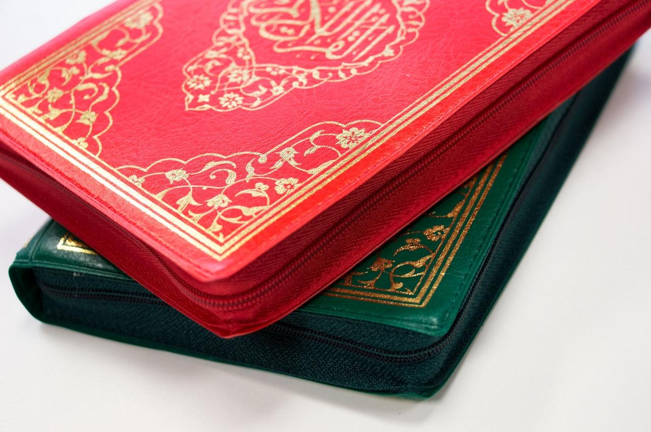 Kompletter Koran in Kleinformat Ledercover mit Reißverschluss in 2 verschiedene Farben