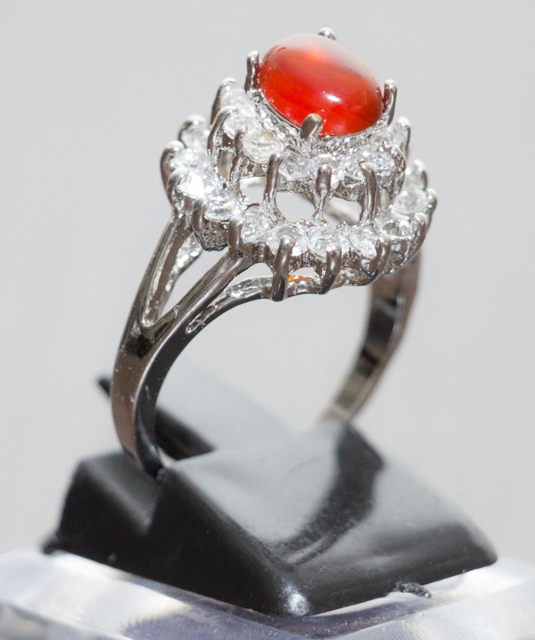 Aqiq Khorasani versilberter Damen Ring - Original Stein