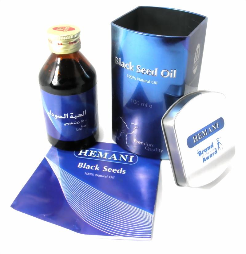HEMANI Schwarzkümmelöl 100% Natürlich 100% Qualität