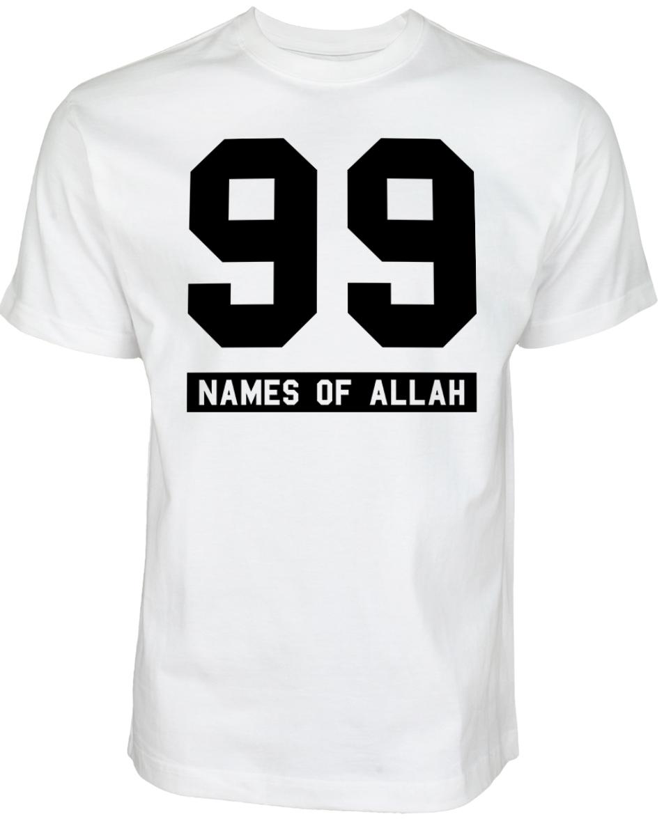 Islamische Kleidung Muslim Streetwear Halal-Wear 99 Names of Allah