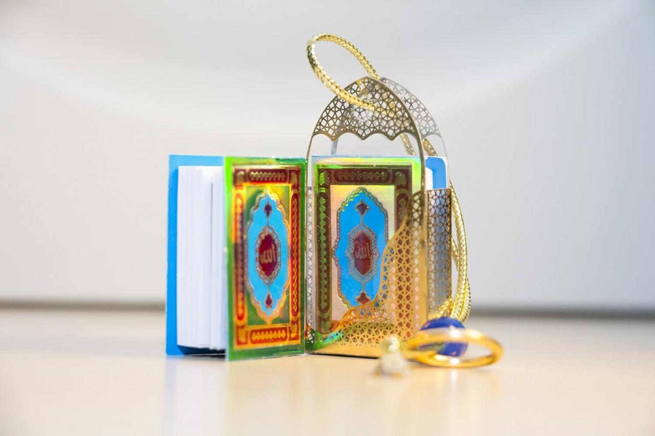 Mini Koran mit kleine Suren und diverse Bittgebete 3 x 5 cm Quran Hirz Islam