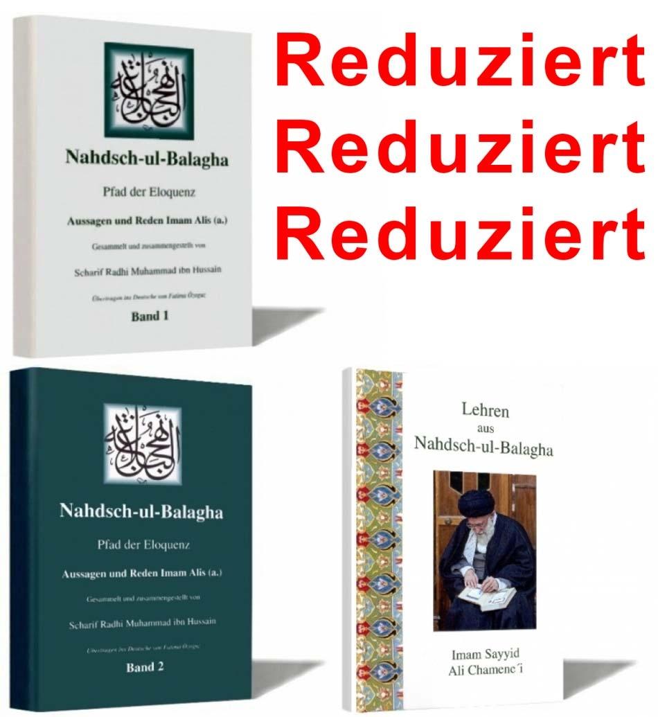 Nahjul Balagha 1 + 2 + Lehren aus Nahjul Balagha - Komplettpaket reduziert