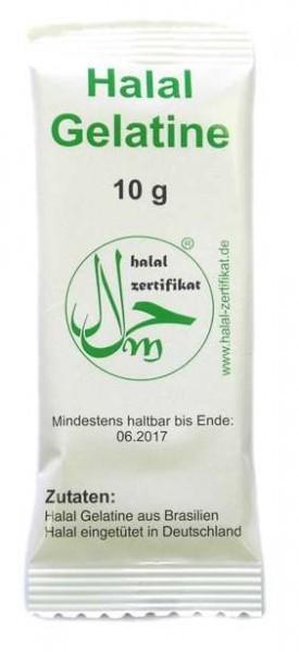 Halal Gelatine, Helal Gelatine 10g Tüten verpackt