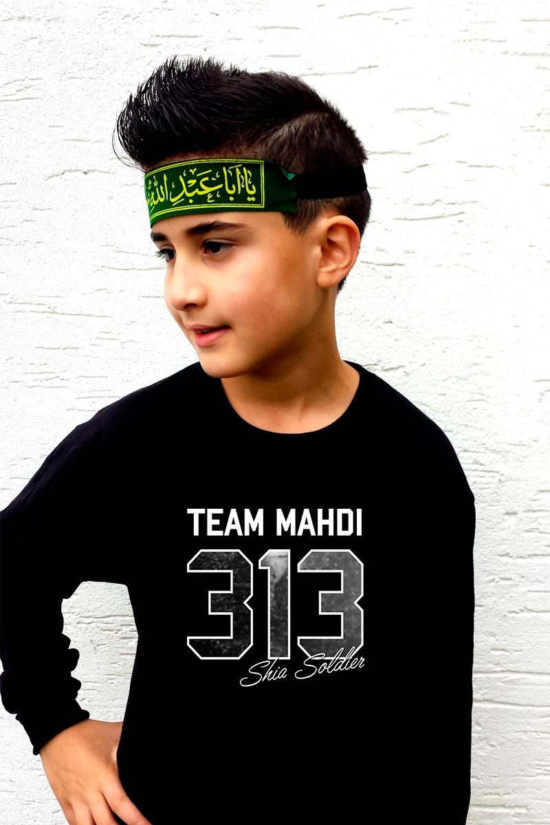 Ashura Muharram Kinder Kleidung Langarm T-Shirt 313 Team Mahdi Shia Soldier