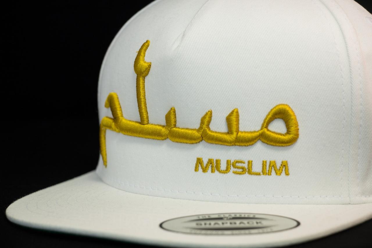MUSLIM Snapback 3D Gold Edition Weiß