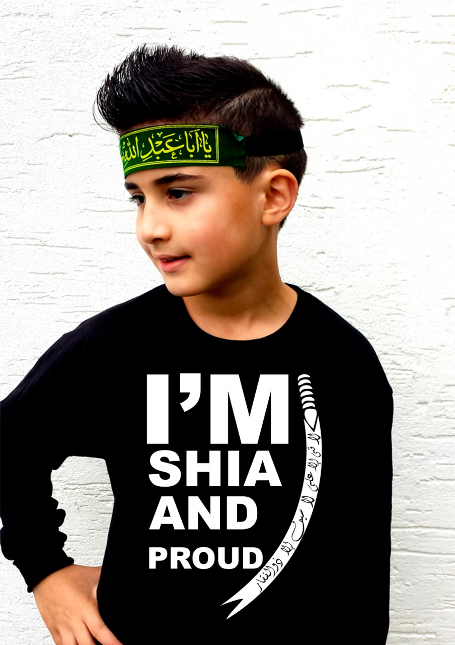 I'M Shia and Proud - Ashura Muharram Langarm Shirt für Kinder